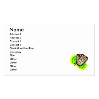 ball & glove pack of standard business cards