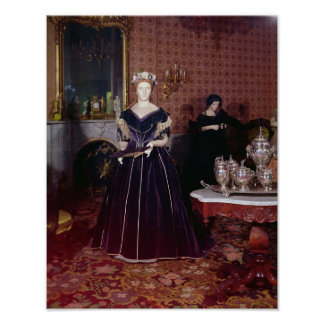 Ball gown of Mary Todd Lincoln Poster