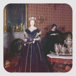 Ball gown of Mary Todd Lincoln Square Sticker