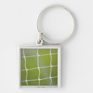 Ball in Net Silver-Colored Square Key Ring