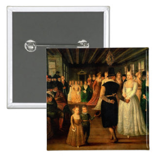 Ball in Venice in Honour of Foreign Visitors 15 Cm Square Badge