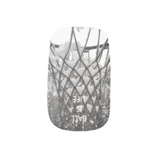 Ball is Life Snowy Basketball Net Nail Stickers
