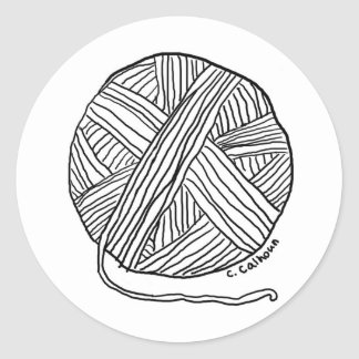 Ball o' Yarn Round Sticker