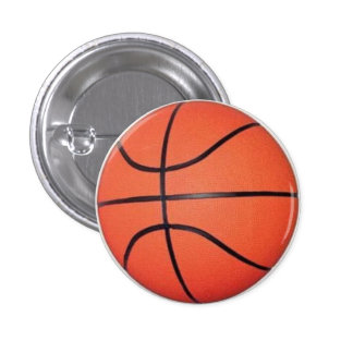 ball of basquete 3 cm round badge