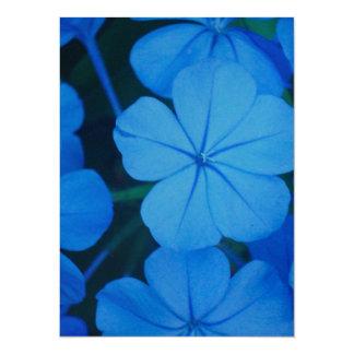 Ball Of Blue Flowers 14 Cm X 19 Cm Invitation Card
