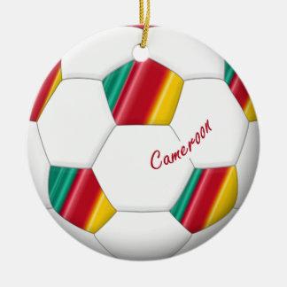 Ball of CAMEROUN SOCCER of national team 2014 Round Ceramic Decoration