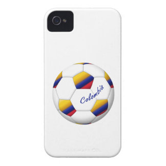 Ball of COLOMBIA SOCCER National flag iPhone 4 Case-Mate Cases