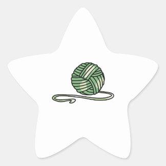 BALL OF KNITTING YARN STAR STICKERS