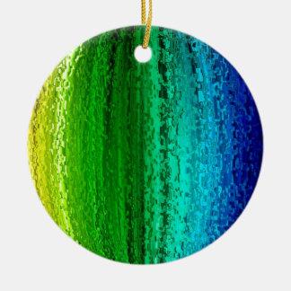 Ball of rainbow color christmas ornament
