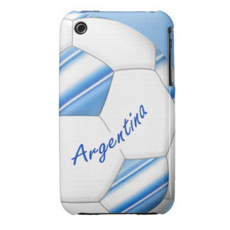 Ball of SOCCER of ARGENTINA national flag 2014 iPhone 3 Case-Mate Case