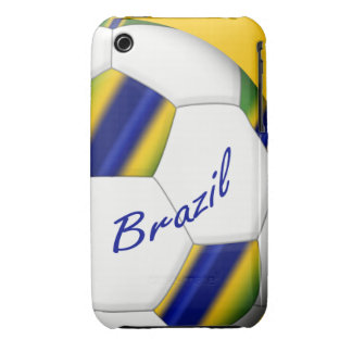 Ball of Soccer of Brazil 2014 Wins of the World iPhone 3 Case-Mate Cases