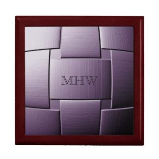 """""""Ball of Steel"""" custom monogram gift / jewelry box"""