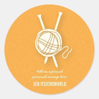Ball of Yarn Personalized Knitting Sticker