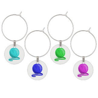 Ball of Yarn Wine Glass Markers Wine Charm