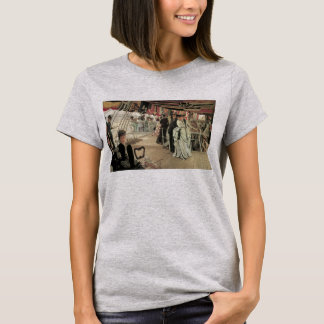 Ball on Shipboard by James Tissot, Victorian Art T-Shirt
