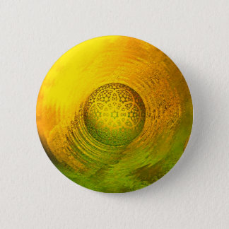 Ball on surface 6 cm round badge