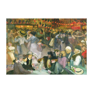 Ball on the 14th July Canvas Print