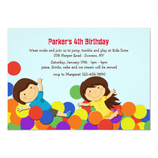 Ball Pit Party Invitation