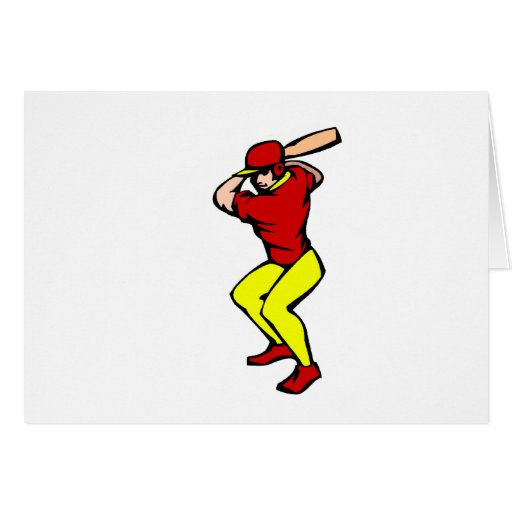 Ball Player Batter Greeting Cards