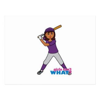 Ball Player - Purple Uniform Postcard