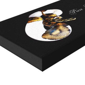 Ball Python - Pibald Canvas Print