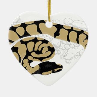 Ball Python Snake Christmas Ornament