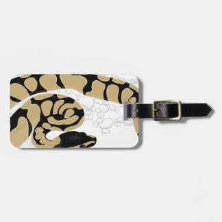 Ball Python Snake Luggage Tag