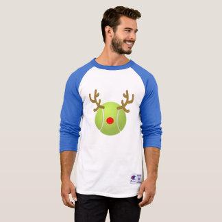 ball reindeer tennis T-Shirt Funny Christmas Gift