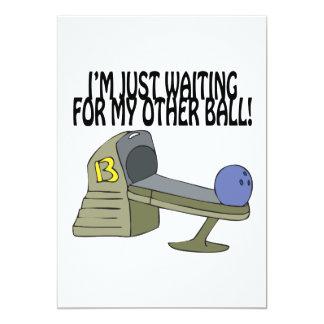 Ball Return 13 Cm X 18 Cm Invitation Card