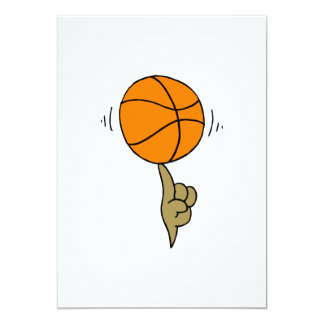 ball spinning on finger 13 cm x 18 cm invitation card