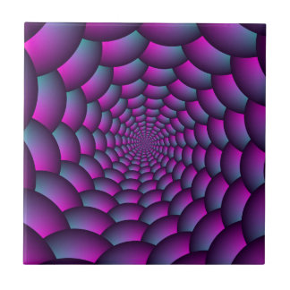 Ball Spiral in Pink Blue and Purple Tile