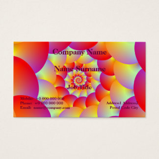 Ball Spiral in Red Yellow and Orange Business Card