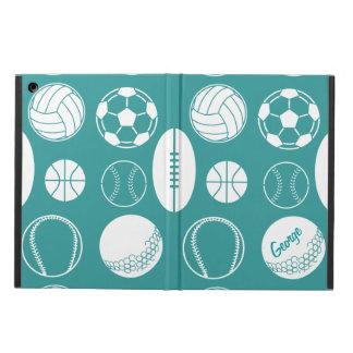 Ball sports all star blue name iPad air cases