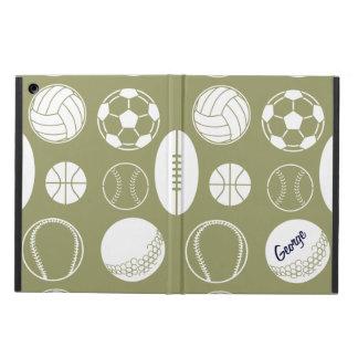 Ball sports all star khaki name iPad air case