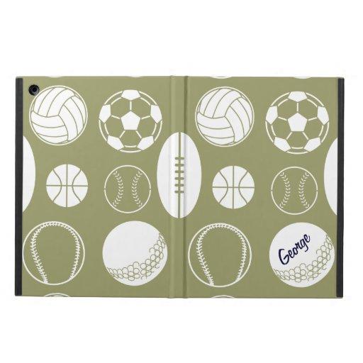 Ball sports all star khaki name iPad air cover