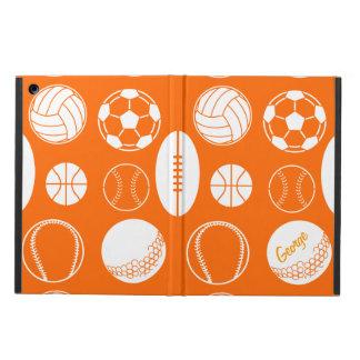 Ball sports all star orange name iPad air case