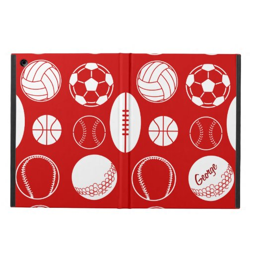 Ball sports all star red name iPad air covers