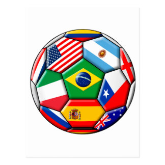ball with flags postcard