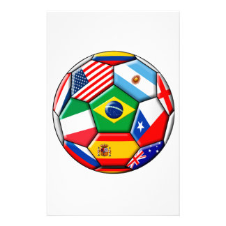 ball with flags stationery paper