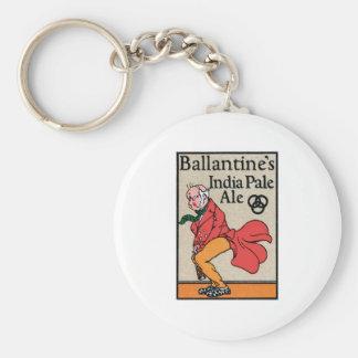 Ballantine's India Pale Ale Vintage Label Key Chain
