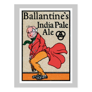 Ballantine's India Pale Ale Vintage Label Postcard
