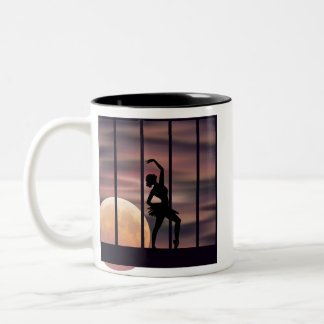 Ballarina at Sunset Two-Tone Coffee Mug