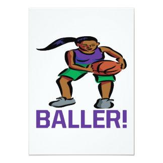 Baller 13 Cm X 18 Cm Invitation Card