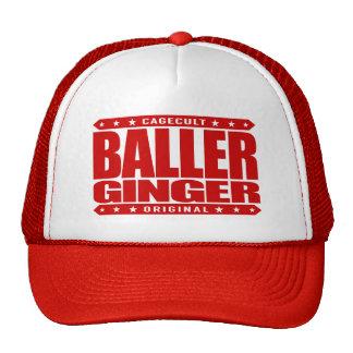 BALLER GINGER - Fiery Red-Haired Gangster Warrior Cap