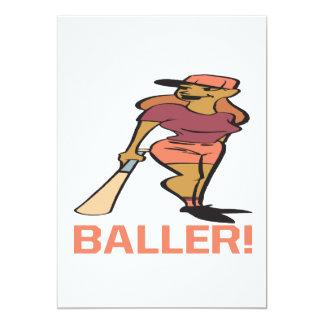 Baller 5x7 Paper Invitation Card