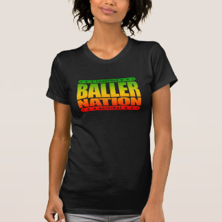 BALLER NATION - In God We Trust but Stay Gangster Tee Shirt