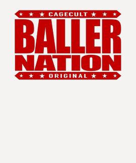 BALLER NATION - In God We Trust but Stay Gangster Tshirt