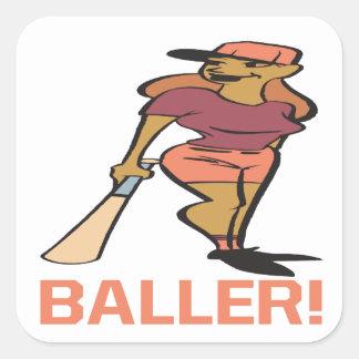 Baller Square Sticker