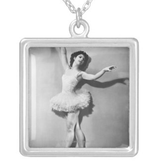 Ballerina 2 silver plated necklace