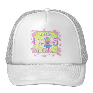 Ballerina 5th Birthday tshirts and Gifts Mesh Hat